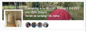 aime camping à la ferme sur FB