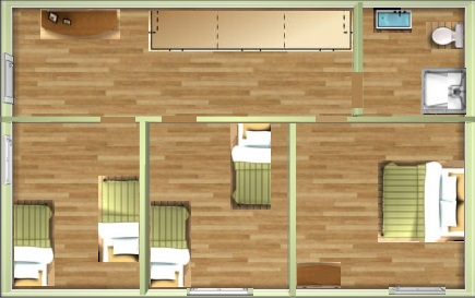 3 chambres à l'étage au gite phoenix
